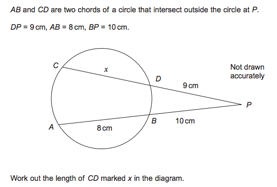 AQA circle theorems question